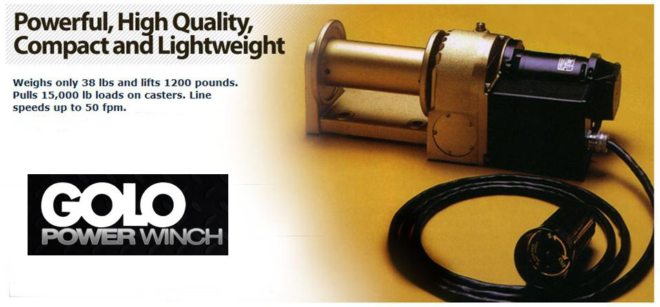 Golo lightweight, electric Winch